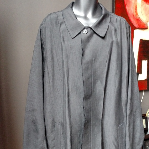 Pre-owned Lavin Men's Silk and Cotton Jacket Black